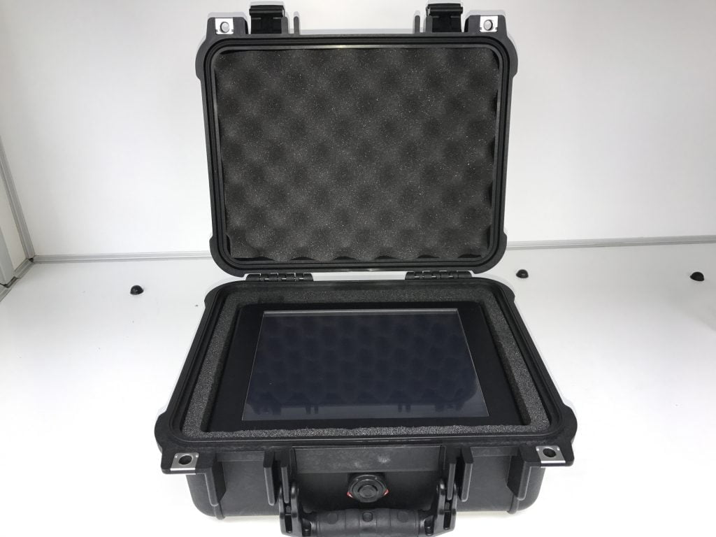 Military Vehicle Mounted 10.4 inch Portrait Mode Touch Screen Monitor